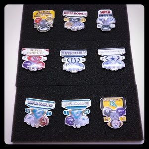 Other - 3 Superbowl pin sets collectible- limited editions